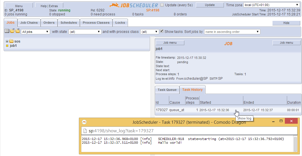 How to integrate the JobScheduler  jar archive for API Jobs