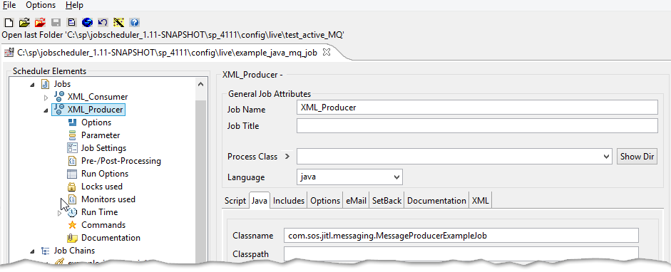 Example - How to Write Java JobScheduler Jobs that communicate over
