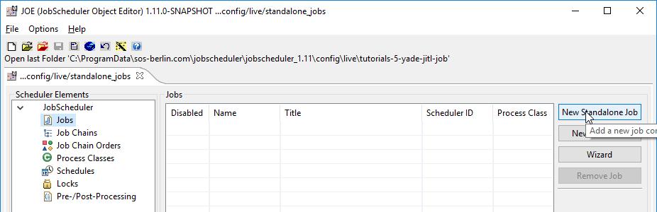 JobScheduler - Tutorial 6 - Configuring and Running Standalone Jobs