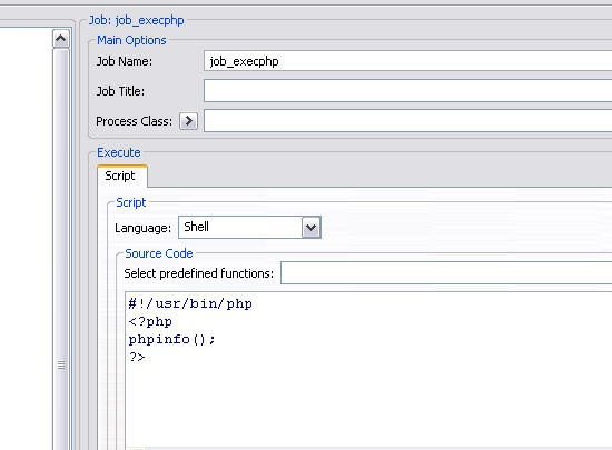 How to execute a PHP script with JobScheduler - Product